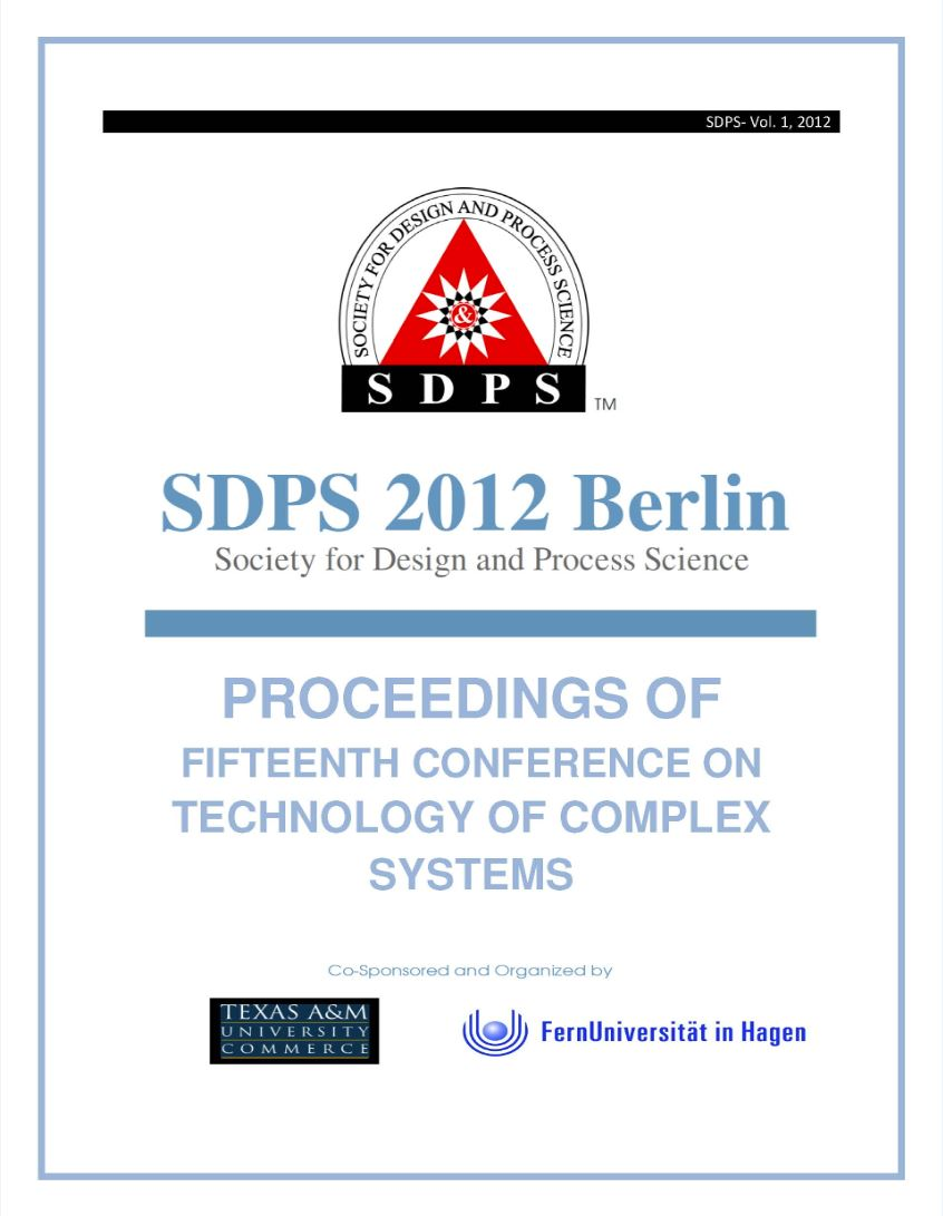 SDPS 2012 proceedings cover